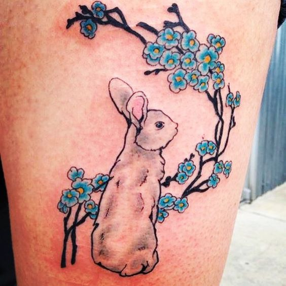 Easter Bunny Tattoo Ideas 4