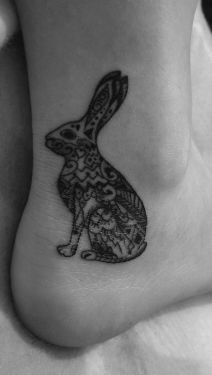 Easter Bunny Tattoo Ideas 6