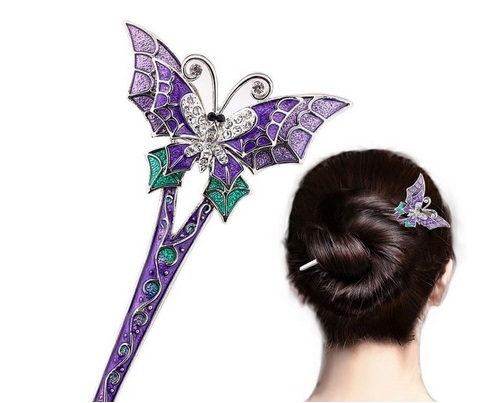 Wedding Butterfly Hairpins 2016 10