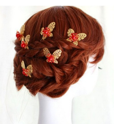 Wedding Butterfly Hairpins 2016 11