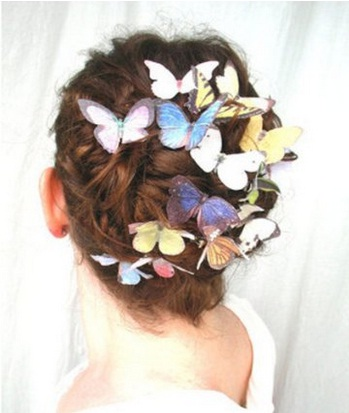 Wedding Butterfly Hairpins 2016 6