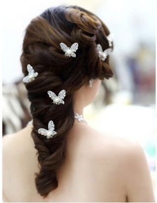 Wedding Butterfly Hairpins 2016 7