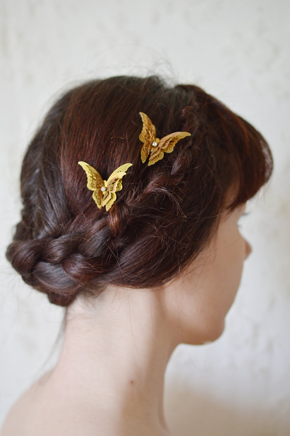 Wedding Butterfly Hairpins 2016 9