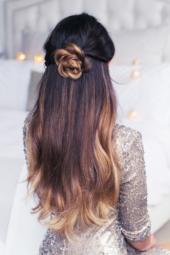 15+ Lovely Flower Hairstyles 2016 14