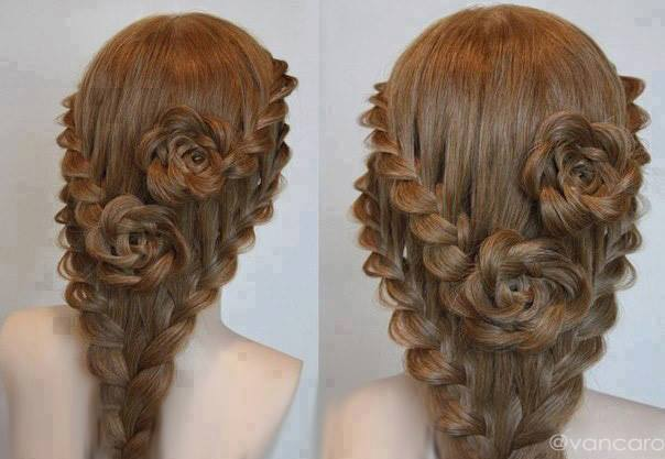 15+ Lovely Flower Hairstyles 2016 2