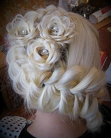 15+ Lovely Flower Hairstyles 2016 3