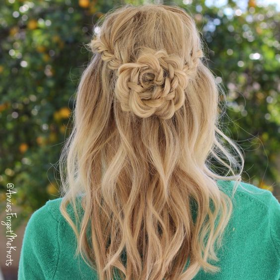 15+ Lovely Flower Hairstyles 2016 4