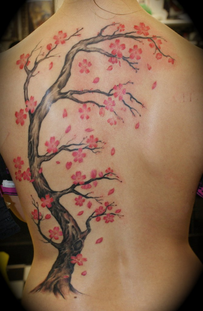 Cherry Blossoms Tattoo Designs 2016 11