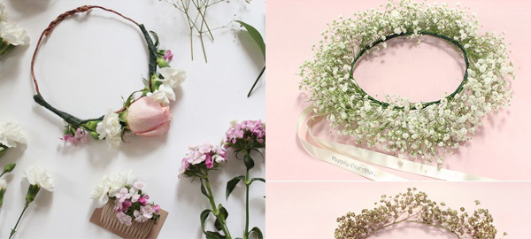 DIY Flower Crowns for Spring 2016 with Step By Step Tutorial