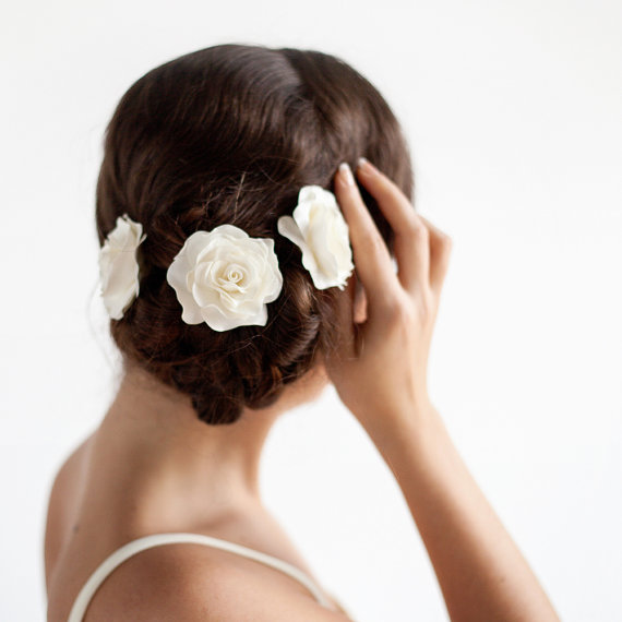 Lovely Bridal Rose Hairpins 2016 1