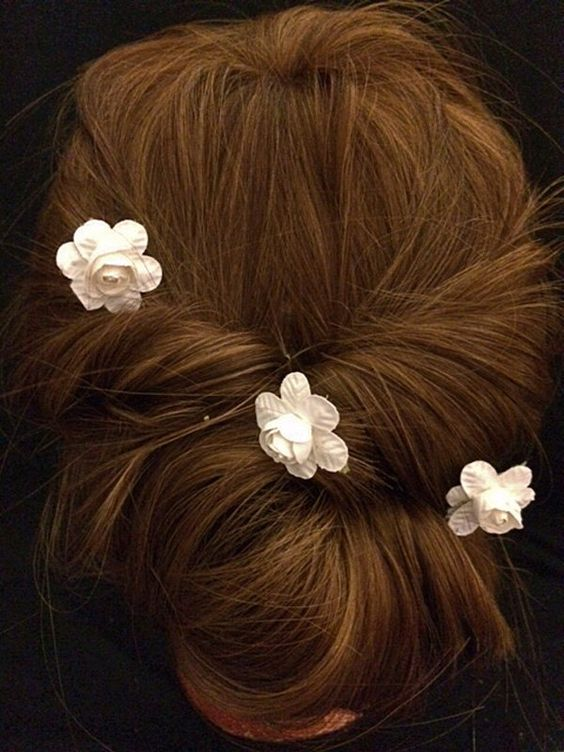 Lovely Bridal Rose Hairpins 2016 15