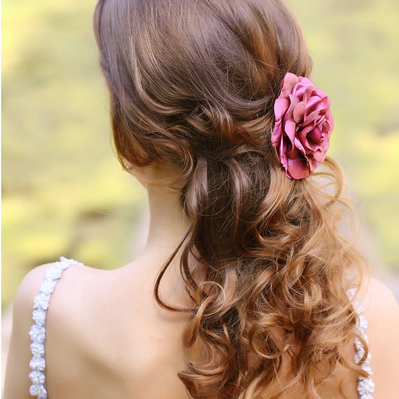 Lovely Bridal Rose Hairpins 2016 5