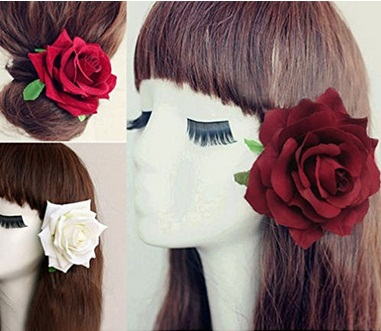 Lovely Bridal Rose Hairpins 2016 8