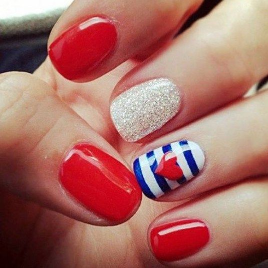 Memorial Day Nail Art 2016 - Ideas and Stickers 1
