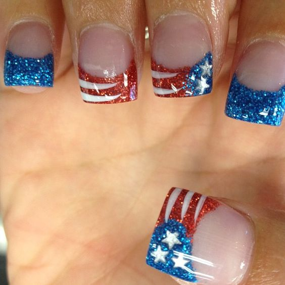 Memorial Day Nail Art 2016 - Ideas and Stickers 10