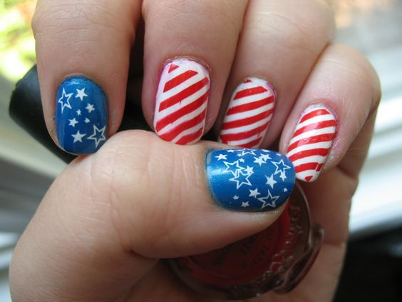 Memorial Day Nail Art 2016 - Ideas and Stickers 2