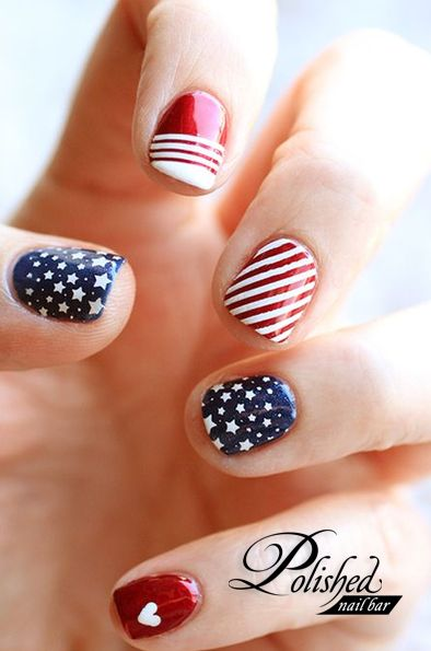 Memorial Day Nail Art 2016 - Ideas and Stickers 3