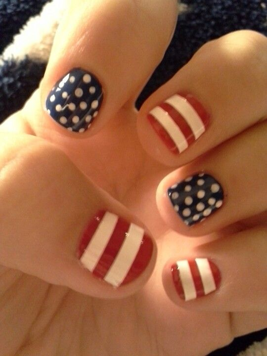 Memorial Day Nail Art 2016 - Ideas and Stickers 5