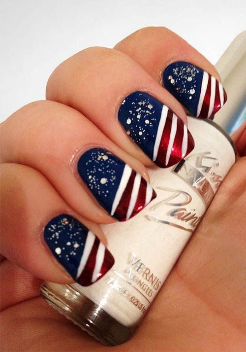 Memorial Day Nail Art 2016 - Ideas and Stickers 6