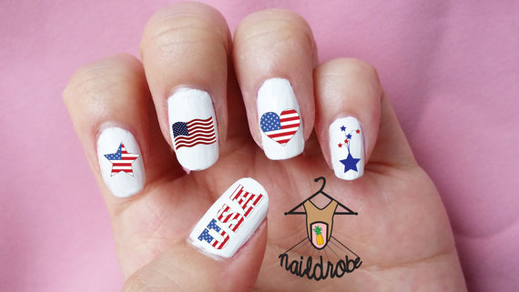 Memorial Day Nail Art 2016 - Ideas and Stickers 7