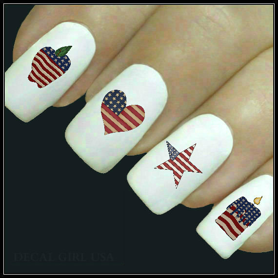 Memorial Day Nail Art 2016 - Ideas and Stickers 8