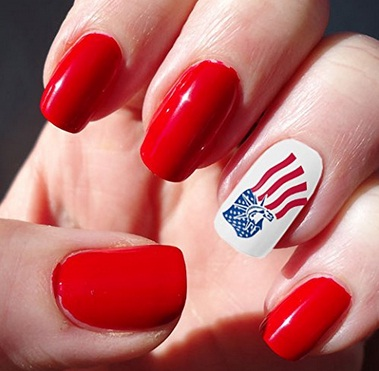 Memorial Day Nail Art 2016 - Ideas and Stickers 9