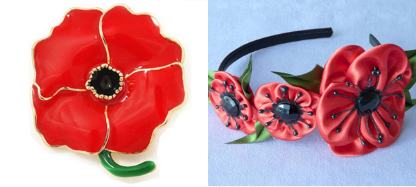 Remembrance Poppy Accessories for Memorial Day 2016