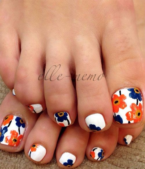 Toe Nail Art Ideas for Spring 2016 11