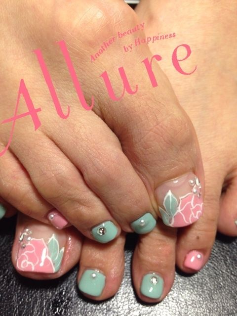 Spring Toe Nail Designs : Girl nail toe art ideas for spring girlshue