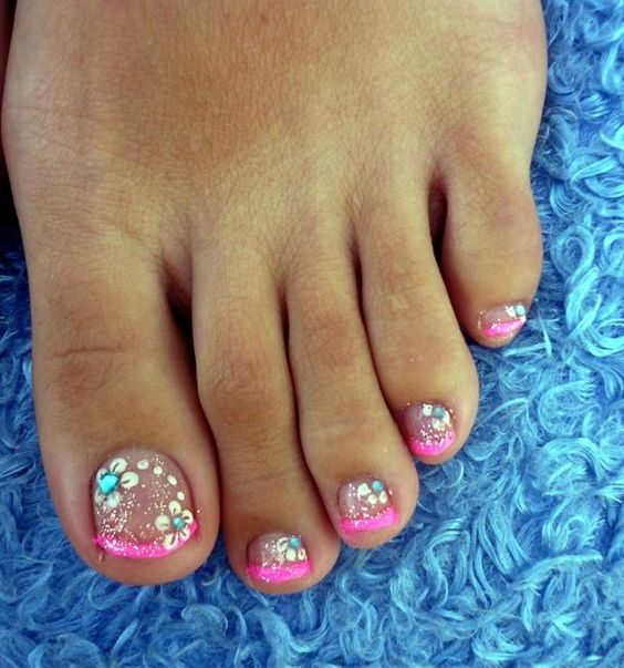 Spring Toe Nail Designs : Toe nail art ideas for spring girlshue