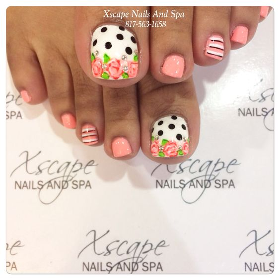 Toe Nail Art Ideas for Spring 2016 8