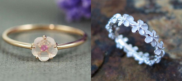 20+ Floral Rings for Spring 2016