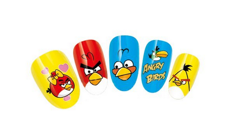 Angry Birds Nail Art Ideas, Stickers and Decals 2016 2