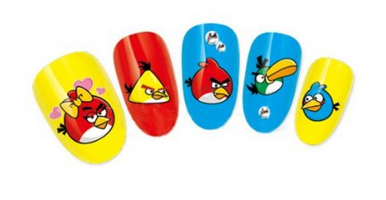Angry Birds Nail Art Ideas, Stickers and Decals 2016