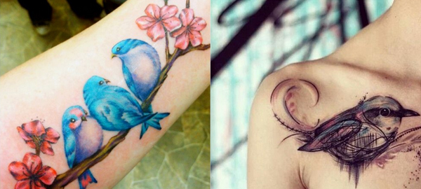Bird Tattoo Ideas and Designs for Spring 2016