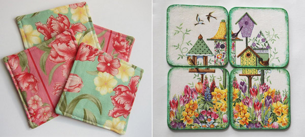 Creative and Lovely Spring Coasters from Etsy