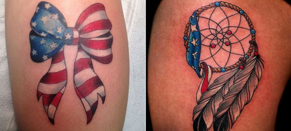 Permanent and Temporary Independence Day Tattoo Ideas 2016