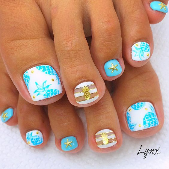 Amazing and Creative Toe Nail Art Ideas for Summer 2016 7