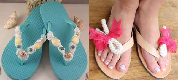 Creative and Fashionable Flip Flops from Etsy for Summer 2016