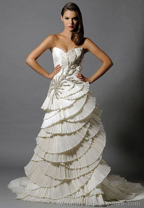 Seashell Gowns and Dresses for Brides and Bridesmaids 2016 4