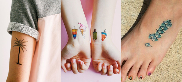 Temporary and Permanent Tattoos for Summer 2016
