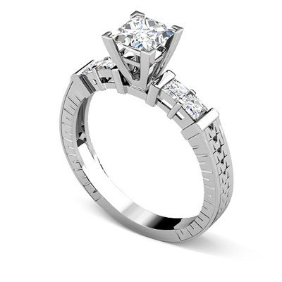 Affordable best diamond wedding engagement rings from primestyle 095ct princess cut diamonds engagement ring junglespirit Image collections