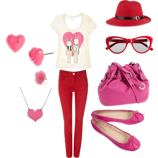 image source - Girls Valentine Outfits