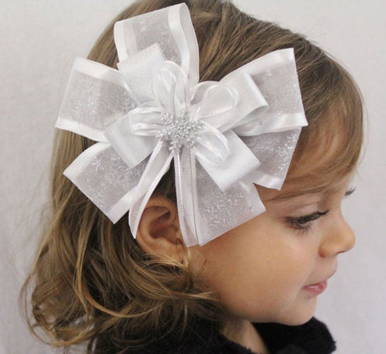 20 cute amp amazing christmas hair bows 2012 for girls