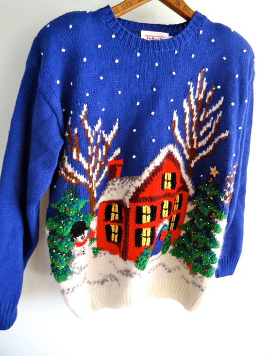 25 Best, Ugly & Tacky Christmas Sweaters & Vest Patterns 2012 For Wom...