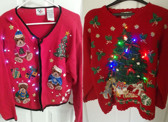 12 Ugly, Funny & Tacky Christmas Lighted Sweater Vest Patterns ...
