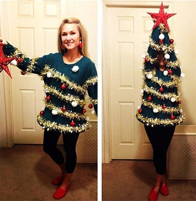 Home Made Christmas Tree Costume Ideas For Women 2013 2014