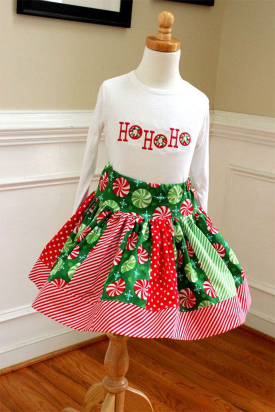 Christmas Outfit Peppermint - Cute Christmas Outfits For Kids & Babies 2013/ 2014 Xmas Costumes