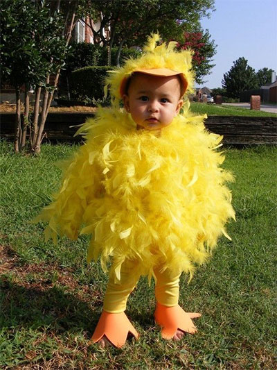 yellow feather u2013 baby chick halloween costume for toddlers