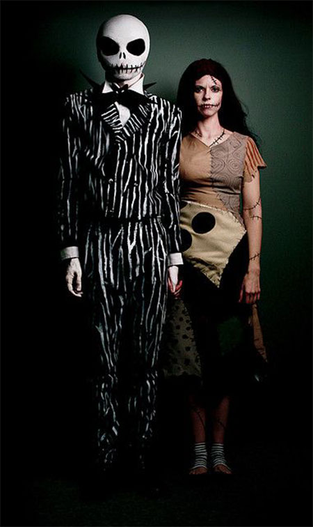 jack sally couples costume idea - Quick Scary Halloween Costumes